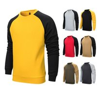 Colorblock plus Samt Marke Men Casual T-Shirt Winter-Fleece Pullover Mantel Herren warme Hoodies Unterstützung DIY Printed 2020