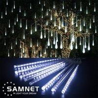 Noel LED Meteor Duş Garland Dekorasyon Işıkları için Tatil Şerit Işık Açık Su Geçirmez Peri Işıkları Ev Yava Ağacı LJ201007
