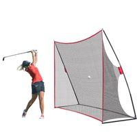 2020 New SplitePtable 10x7ft Практика гольфа, ударяя распашную нейлоновую сетку для внутреннего наружного съемного съемного клетки для гольфа.
