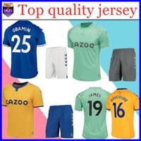 2020 Le kit enfants Soccer Jersey Toffees adultes RICHARLISON SIGURDSSON JAMES Le maillot de football Toffeemen DOUCOURE maison loin des hommes maillot 20/21