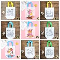 26 Cores Saco Kids DIY Graffiti artesanal pintura Puzzles Artes Artes Artesanato Color Preenchimento Brinquedo Infância Infância Não-tecida Bolsas G20305