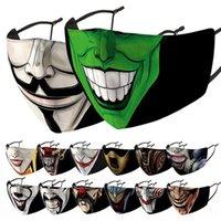 Clown Face Mask Designer Uomo Donne Stampa Maschere di Halloween Antipasti antipolvere antivento e foschia sostituibile PM2.5 Filtro FaceMask