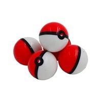 10pcs Pokeball 6ml Concentré de silicone Conteneur Conteneur de Pokeballs antiadhésifs Crème Jarbutane ou huile SLICK DAB BOARS T200507