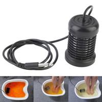 Hot Detox Foot Array da bagno rotondo Array in acciaio inox AQUA SPA Piede Massaggio Strumento di soccorso Ionico Ionico Ion