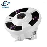 Mini CCTV Dome Kamera 1080 P AHD 1.7mm 180 Derece Balıkgözü Lens 3 adet Dizi LED'ler IR Gece Görüş Dome Gözetim Kamerası1