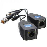 50pairs/lot HD DC Passive Coaxial Cat5 BNC Connector Twisted Accessories Transceiver BNC UTP CCTV Video Balun for HD AHD TVI CVI CVBS Camera