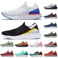 Nike Epic React 2020 Novo épico Reagir Fly Knit Mulheres Homens Nik Running Shoes Air Branco Preto Reagir Verde Pink Olive Jogging Trainers Sneakers tamanho 36-45