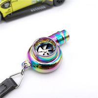 CIBO Real Whistle Sound Turbo Keychain Manica Cuscinetto Spinning Auto Parte Turbina Turbocompressore Catena chiave Ring1