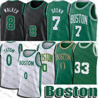 Jayson 0 Tatum Bostons Jersey Kemba Jaylen Walker Brown Jerseys Marcus Retro Smart 33 retroceso 2021 Ciudad Basketball Jersey