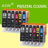 ASW 2set PGI525 IGP 525 CLI 526 cartucce d'inchiostro per Canon Pixma iP4850 iX6550 MG5150 MG5250 MG6150 MG8150 MX885 MG5350 Stampante