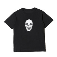 19SS Skull Men T Shirt High Quality Hip Hop Short Sleeves Wo...