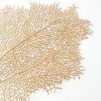 Simulación Coral Branch Posavasos PP café estilo occidental Tabla de Alimentos Mats no del resbalón impermeable ahueca hacia fuera la decoración del hogar del amortiguador 5 28Mt G2