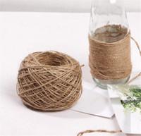 Nuevo hogar 30M Natural arpillera de la arpillera de yute guita del cordón cuerda del cáñamo regalo cadena de embalaje Fiesta Evento Cuerdas de Navidad