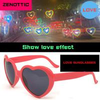 Zenottic Love Gafas de sol Efectos especiales Melocotón Heart Cumpleaños Gafas de cumpleaños En forma de corazón Instruidos Artefacto Severo Gafas de sol