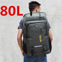 80L unisex men travel sports bag pack waterproof Outdoor Mountaineering Hiking Climbing Camping backpack for male C1008