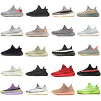 Yeezy 350 V2 Running shoes Static Reflective Kanye west Beluga 2.0 Hommes Femmes Chaussures de course à pied Zebra Noir Blanc Sneakers EUR 36-47 sans cases