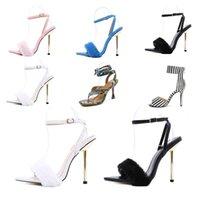 2021 Nova Chegada Sandálias das Mulheres Bombas de Verão High Heaver Stiletto Couro Open Toes Deslize em Boa Qualidade Sexy Casual Home Tamanho 36-41