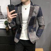 Мужская пункт Parkas мужская тонкий дизайн Causal элегантный блейзер удобное качество Masculino кнопка свадебные случайный Blazer1