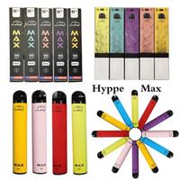 2021 새로운 HYPPE 최대 일회용 펜 일회용 5ml 시작 키트 장치 1500puffs 650mAh 배터리 베스트 증발기 Hyppe Max Instock
