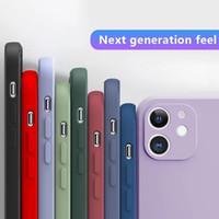 Para iPhone 12 11 Pro Max Case 2021 Luxo Novo Capa Suave TPU para iPhone 7 8 6S Plus SE2020 x XR XS Max Phone Capa de volta com cores opcionais