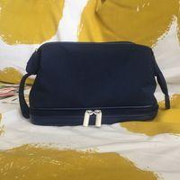 الأزياء حقيبة ماكياج أسود النسيج سستة حالة أنيقة الجمال سعة كبيرة حالة التجميل الكلاسيكية ماكياج المنظم حقيبة