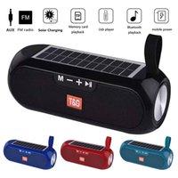 المتحدثون TG182 الشمسية بلوتوث الطاقة المحمولة العمود ستيريو لاسلكي مركز الموسيقى BOOMBOX ماء سوبر باس USB AUX راديو FM