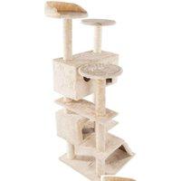 Кошачьи деревья и башни Prime для больших кошек 52 дюймов мебель котенка активность башни с царапинкой набор для сообщений Qyliui Toys2010