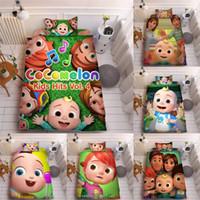 Kinder Kokomelon JI 3D Druck Bett Bügelblatt Drei-teiliges Sets Kissenbezug + Bettblatt + Quilt Cover-Bettwäsche Kinder Cocmalon Supplies LY118A