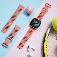 Fitbit Sense / Fitbit Versa 3 Hava Delikli Yumuşak TPU Yedek Nefes Spor Grupları Bileklikler Kayışı