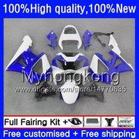 Corpo para Honda CBR900 RR CBR 929RR 900cc 929CC 900 929 branco azul RR CC 900RR 50HM.35 CBR900RR CBR929RR 00 01 CBR929 RR 2000 2001 carenagens
