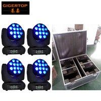 Uçuş Vaka 4in1 Paketi 12x12W Cree 4-IN-1 Kafa Işın Sahne Işık RGBW Renk Çin Sahne Işık Üretici Hareketli Led