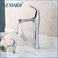 Faucets de lavabo de baño Kemaidi Cuenca de lavabo mezclador / agua fría Tap tapete montado en una sola manija grifo Chrome