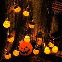 Abóbora de Halloween Abóbora Luz de Corda Ao Ar Listral Levado Lâmpada de Garland 3D Luzes Fadas de Fada Decoração da Festa Decoração da Partida Pátio da sala de estar operado
