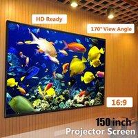 Écrans de projection pliables 16: 9 Projecteur 60 72 84 100 120 150 pouces Ecran à écran blanc TV Accueil Audio-Visual1