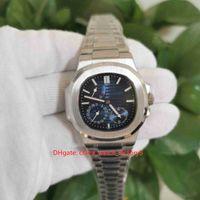 뜨거운 항목 최고 품질 남성 40.5mm 3712 / 1A-001 파워 리저브 클래식 스테인레스 스틸 기계적 투명 자동 망 시계 시계