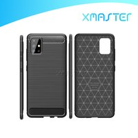Estuche de textura de fibra de carbono para Samsung Note20 S20 A51 5G A21S HUAWEI P40 MATE 30 PRO OnePlus 8 Tapa de teléfono móvil a prueba de golpes Xmaster