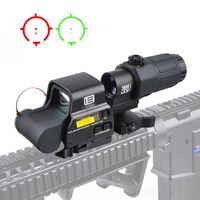 Tactical 558 Голографическое зрение 33 G33 Лупа Combo Тактические красные прицеливающие прицелы для 20-мм рельса