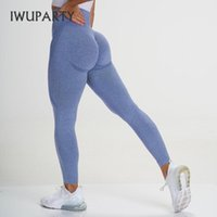 IWUPARTY Vital Crunch BuSeamless Sport Leggings mit hoher Taille Workout-Gamaschen-Frauen Jogging Fitness Strumpfhosen Push Up Yoga Pants