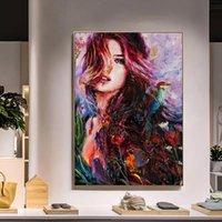 Cadre bricolage peinture par chiffres abstraits Figure image mur arte murale peinture acrylique pour la décoration de la maison art 40x50cm
