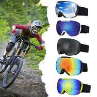 고품질 스키 고글 대형 구형 더블 레이어 방지 안개 안티 스노우 고글 등산 안경 스키 용품 방풍