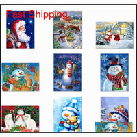 5D DIY 크리스마스 전체 드릴 라인 석 다이아몬드 페인팅 키트 크로스 스티치 산타 클로스 스노우 QYLOZQ PACKING2010
