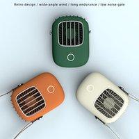 Электрические вентиляторы Портативный Ленивый Спортивный Холтер Вентилятор Мини Висит Шея USB Перезаряжаемый Крышка Воздушный Охладитель Открытый