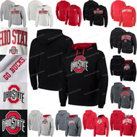 Ohio State Buckeyes NCAA-Jerseys Colosseum Big Arch Pullover Hoodies Trikots Sweatshirts Schwarz Weiß Rot Grau