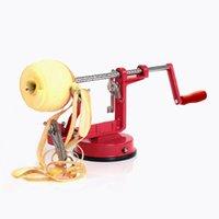 3 in 1 Paslanmaz Çelik El-Kranklı Meyve Soyucu Ile Kırpma Elma Patates Soyucu Dilimleme Makinesi Mutfak Aletleri 30 * 10 * 13 cm 201123