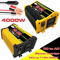 車のジャンプスターターパワーインバーター4000W電源の太陽の変換器アダプターデュアルUSB LEDディスプレイ12V~220V / 110V電圧変圧器修正サイン