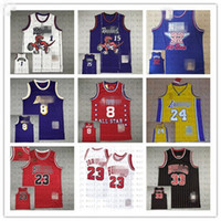 Erkekler Michael 23 Carter 15 MaGrady 1 Johnson 32 All-Star Mitchell Ness Classics Oyuncu Gerileme Jersey
