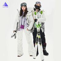 Su geçirmez Doğa Sporları Snowboard Coat pantolonlar Windproof VEKTÖR Marka Erkekler Kadınlar Kayak Suit Kayak Ceket Pantolon Kış Sıcak