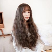 Perruque femme grosse vague coréenne cheveux jiafa maïs chaude chaude chimique perruque couvre-tête