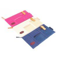 Bilarrangör 3 Färger Styling Card Storage Holder In-Car Mörkblå Sun Visor Point Pocket Automobiles Pouch Bag
