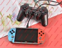 X19 Double Players 4.3 inch Game Console Arcade FC Games TV Video MP5 Handheld Game Box vs x7 821 with game controller